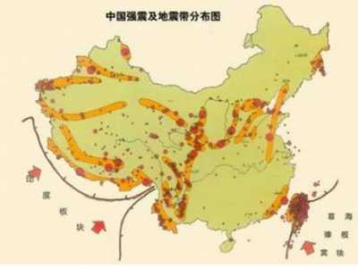 云南大理地震 大理市历史上地震统计及地震带分布图